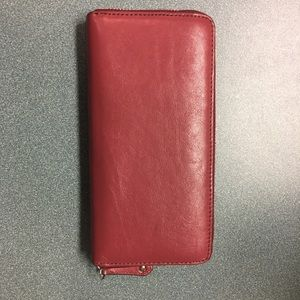 Coach Bags - Coach wallet - maroon - leather